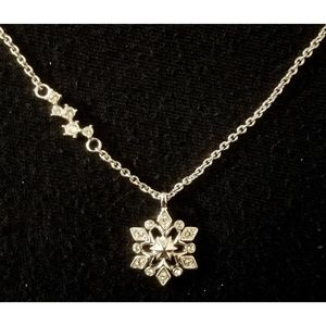 Disney's Frozen Silver Snowflake Necklace
